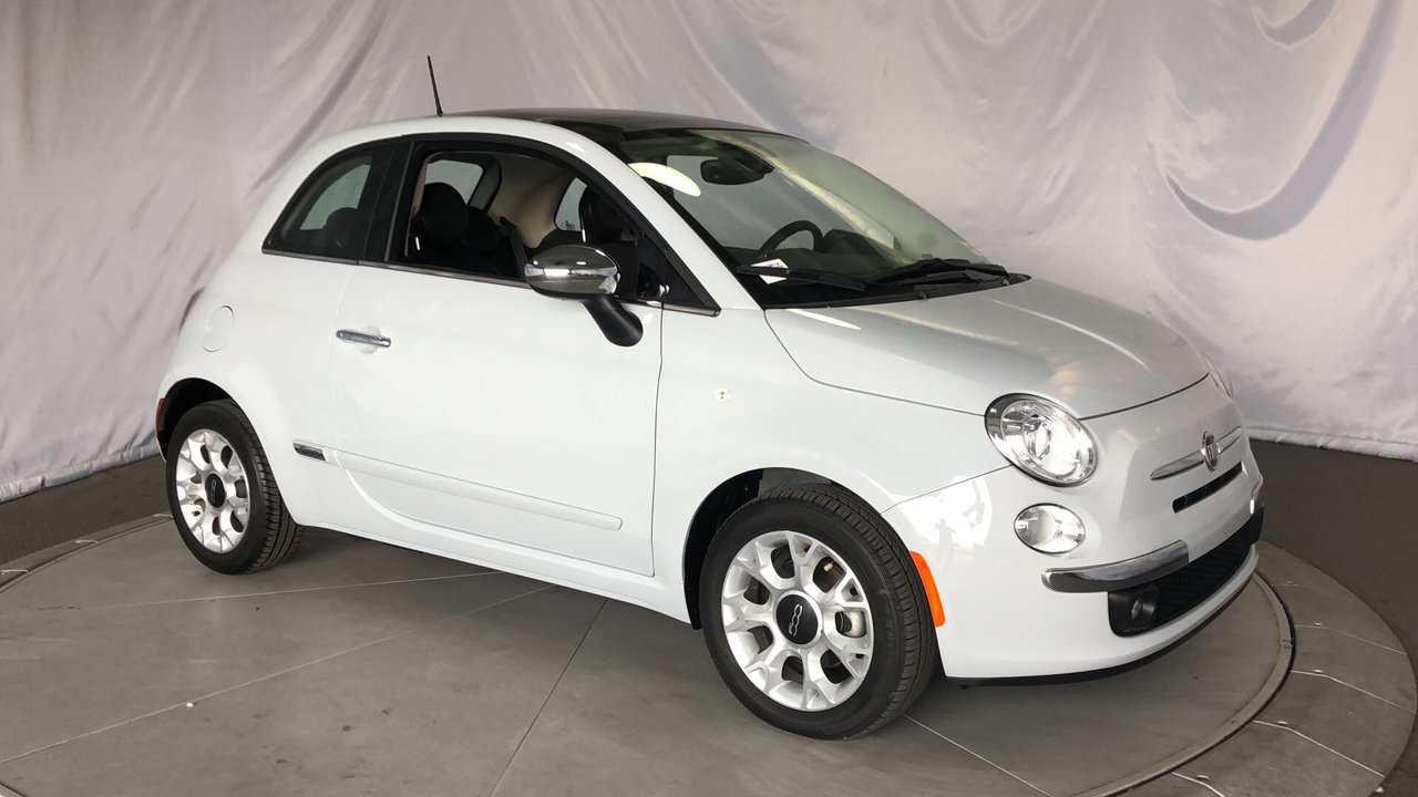 pre-owned 2017 fiat 500 lounge hatchback in costa mesa #lj13819